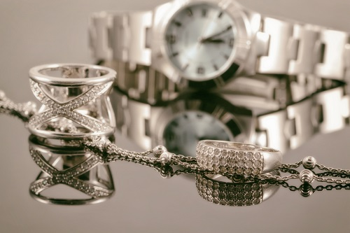 rings, necklace and watch